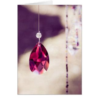Vermelho Sparkling Cartão Comemorativo