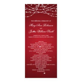 Vermelho Sparkling da corda do programa do Convite Personalizados