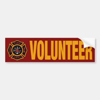 Vermelho voluntário da viatura de incêndio do adesivo para carro