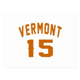 Vermont 15 designs do aniversário cartão postal