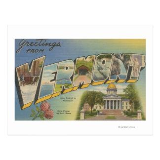Vermont (capital de estado/flor) - cartão postal