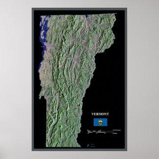 Vermont do poster do satélite do espaço