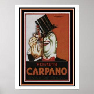 Vermuth Carpano 12 x poster 16