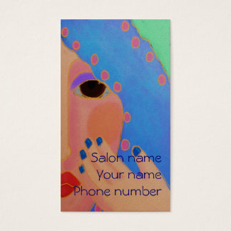 Verniz para as unhas azul cartão de visitas