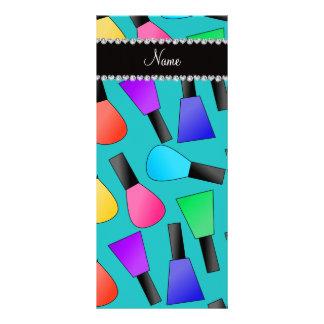 Verniz para as unhas conhecido personalizado do planfeto informativo colorido