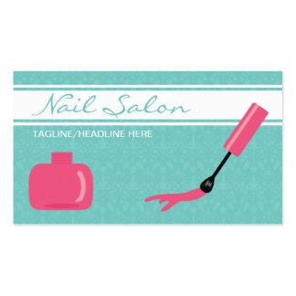 Verniz para as unhas cor-de-rosa cartão de visita