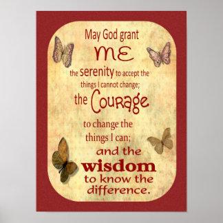 Versão 3 da oração da serenidade -- arte do poster