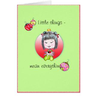 Versão de cartão pequena 1 do Natal das coisas