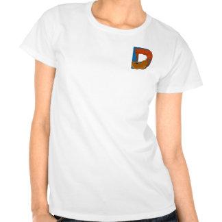 Versão do bolso do t-shirt do alfabeto D do gato
