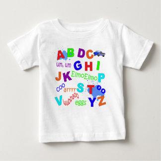 Versão dos meninos do alfabeto da criança tshirts