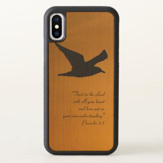 Verso amarelo da bíblia da fé do pássaro do céu do