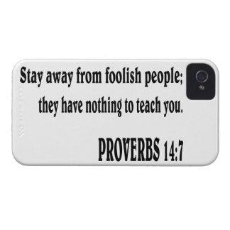 Verso da bíblia do 14:7 dos PROVÉRBIO Capas Para iPhone 4 Case-Mate