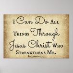 Verso da bíblia dos Philippians eu posso fazer tod Poster