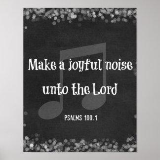 Verso da bíblia Faça um ruído alegre