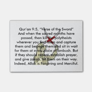 Verso do 9:5 de Qur'an da espada Bloquinhos De Notas