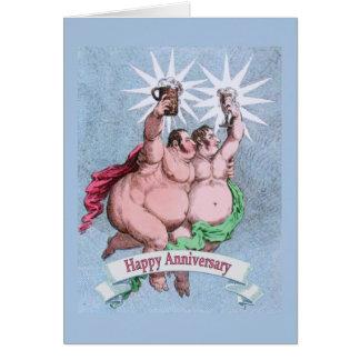 Verso feliz alegre da substituição do aniversário cartão de nota
