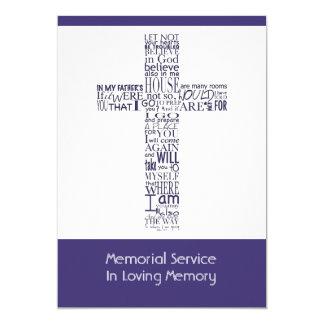 Versos da bíblia da cerimonia comemorativa 4 de convite 12.7 x 17.78cm