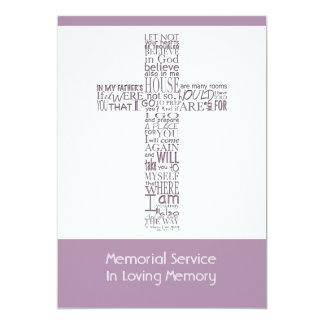 Versos da bíblia da cerimonia comemorativa 5 de convite 12.7 x 17.78cm