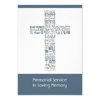 Versos da bíblia da cerimonia comemorativa 7 de convite 12.7 x 17.78cm