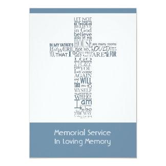 Versos da bíblia da cerimonia comemorativa 8 de convite 12.7 x 17.78cm