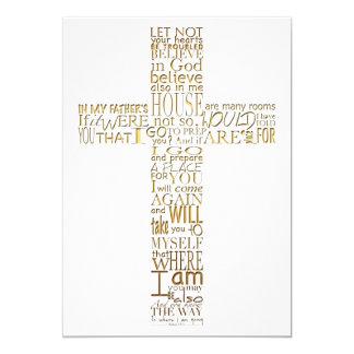 Versos da bíblia da cerimonia comemorativa do ouro convite 12.7 x 17.78cm