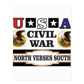 Versos nortes da guerra civil dos EUA sul Cartão Postal