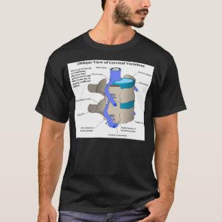 Vértebra cervical da coluna espinal humana camiseta