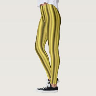 Verticais dourados leggings