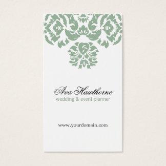 Vertical chique floral do cartão de visita do