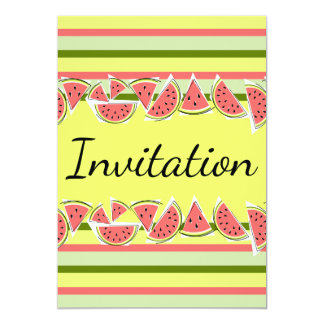 Vertical clássico do convite da listra da melancia