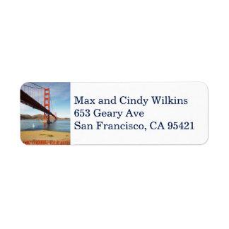 Vertical da etiqueta de endereço do remetente de