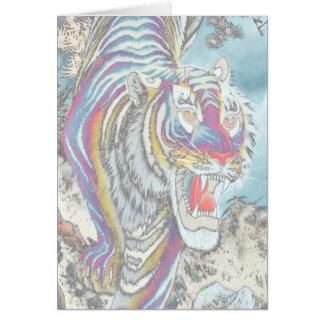 Vertical do cartão da Cheio-Cor do vazio do tigre