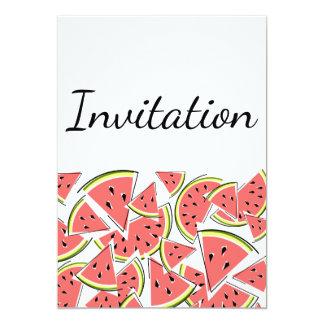 Vertical do convite da melancia