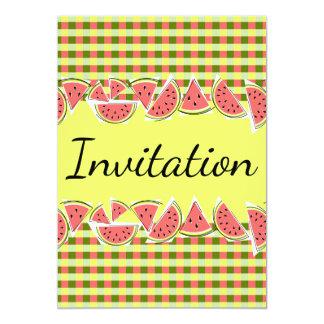 Vertical do convite da verificação da melancia