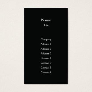 Vertical liso preto - negócio cartão de visitas
