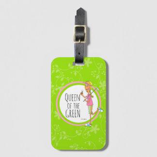 Vertical-Rainha do verde Etiqueta De Bagagem
