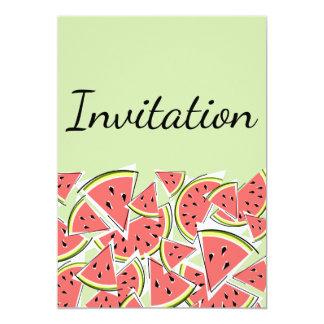 Vertical verde do convite da melancia