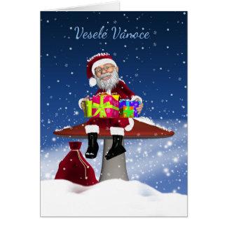 Vesele Vanoce - cartão de Natal checo com papai