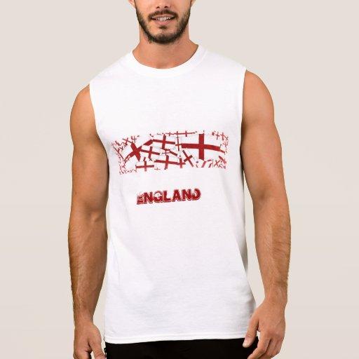 Veste da bandeira de Inglaterra Camisetas Sem Manga