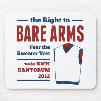 Veste desencapada 2012 da camisola de Santorum do  Mouse Pad