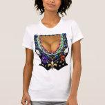 Veste do carnaval com t-shirt da miçanga