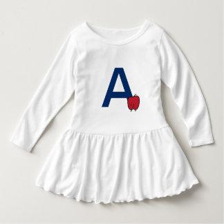 Vestido A é para a aprendizagem da letra do ABC do