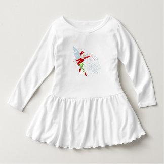 Vestido alegre do plissado da criança da varinha