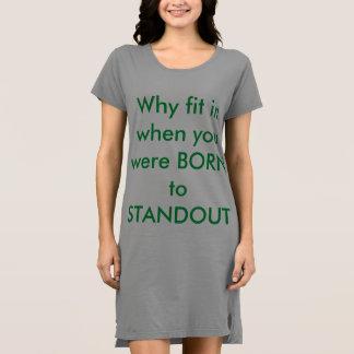 Vestido americano do t-shirt do roupa das mulheres