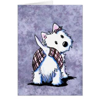 Vestido ao cartão de Westie do Kilt