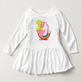 Vestido Arco-íris do unicórnio do aniversário de 3 anos