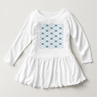 Vestido Art deco, cerceta, branco, vintage, teste padrão