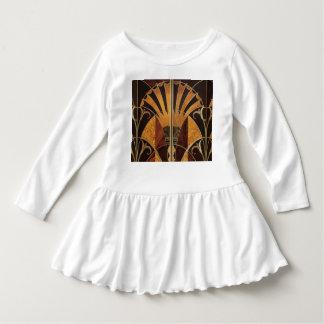 Vestido arte Nouveau, art deco, vintage, multi cores de