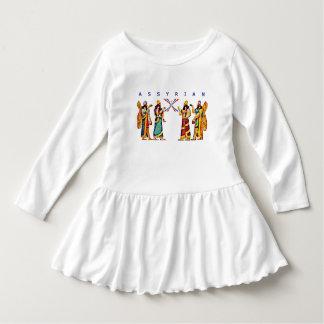 Vestido Assyrian do plissado da criança