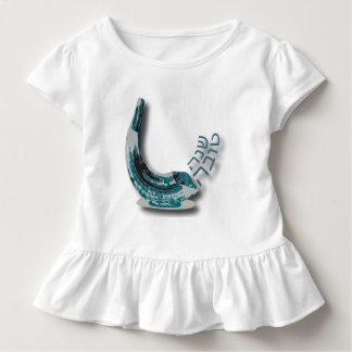 Vestido azul da criança do plissado de Shofer